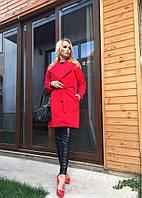 Женское кашемировое пальто на запах 2363