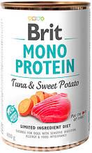 Brit Mono Protein Dog с тунцом и сладким картофелем  влажный корм для собак 400г