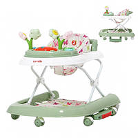 Детские ходунки Carrello 3 в 1 Fiore Green Первые шаги 9606