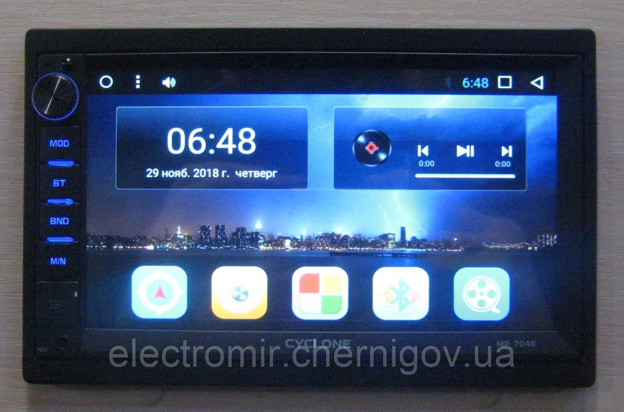 Автомагнитола Cyclone MP-7046A (2 DIN, Android)