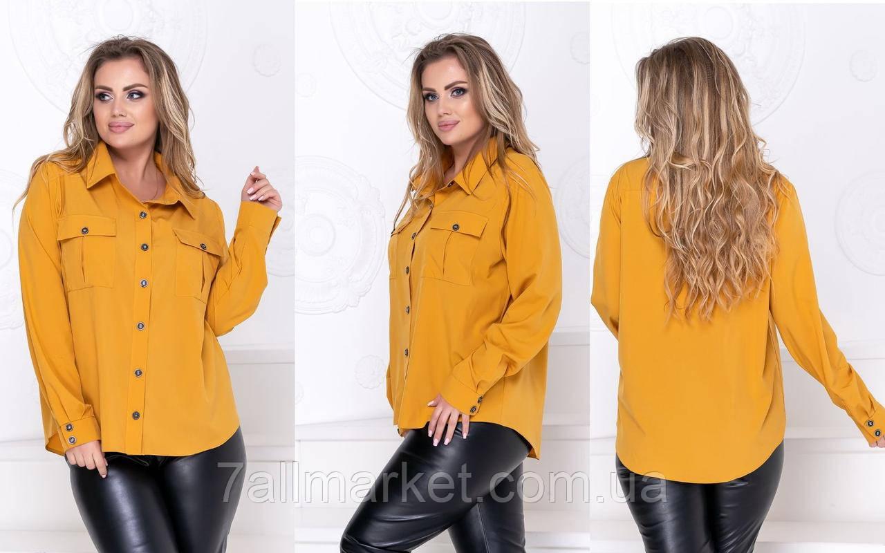 """Сорочка жіноча класична супер-софт, розміри 50-52 (3ол) """"LINDA"""" купити недорого від прямого постачальника"""