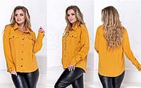 """Сорочка жіноча класична супер-софт, розміри 50-52 (3ол) """"LINDA"""" купити недорого від прямого постачальника, фото 1"""