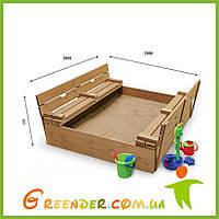 Детские песочницы деревянные 31 размер 200х200см