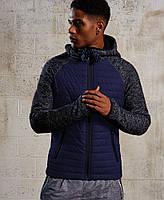 Синяя демисезонная мужская куртка