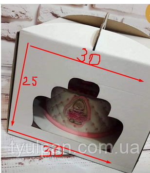 Уцененка Коробка для торта с окошком  30*30*25 см