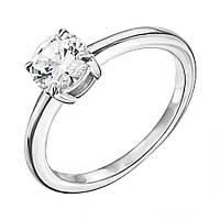 Серебряное кольцо с фианитом 000133966 000133966 17 размер