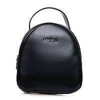 Женская кожаная мини сумка-рюкзак черная 2-01 2228 black