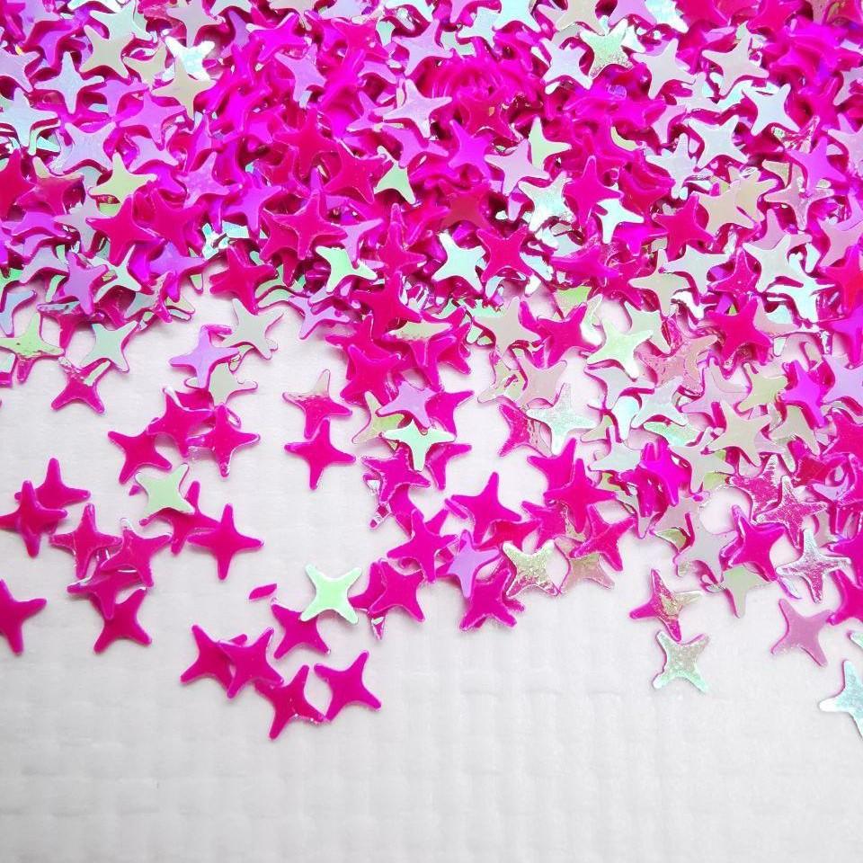 Глиттерные звёздочки cosmo сиреневые от 5г ;