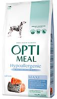 Сухой гипоаллергенный полнорационный корм Optimeal для собак крупных пород со вкусом лосося 12 кг