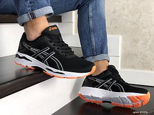 Мужские кроссовки Asics GT1000 сетка,черно белые с оранжевым, фото 2