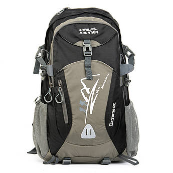 PODIUM Рюкзак Туристический нейлон Royal Mountain 1182 black-grey