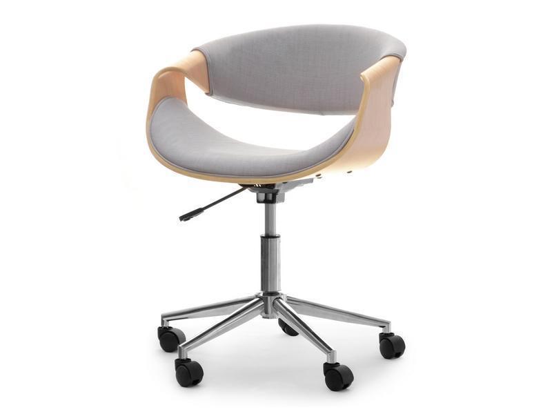 Кресло дизайнерское офисное деревянное I SZAREJ TKANINY RAPID DĄB-SZARY
