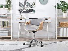 Кресло дизайнерское офисное деревянное I SZAREJ TKANINY RAPID DĄB-SZARY , фото 2