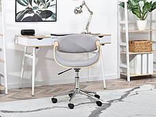 Кресло дизайнерское офисное деревянное I SZAREJ TKANINY RAPID DĄB-SZARY , фото 3
