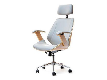 Кресло дизайнерское офисное деревянное FRANK BUKOWO SZARY , фото 2