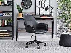 Кресло офисное для работы за компьютером OMAR CZARNY Z PRZESZYWANEJ SKÓRY , фото 2