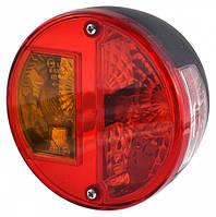 Фонарь задний круглый 2-сегментний с подсветкой номера DOBPLAST DPT 10 0010-00001,