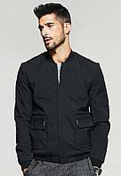 Демисезонная мужская черная куртка
