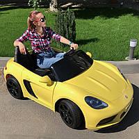 Детский электромобиль Bambi Porsche M 4055ALS-6 Желтый