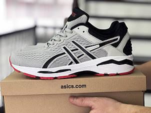 Мужские кроссовки Asics GT1000 сетка,светло серые, фото 2