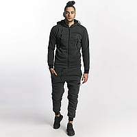 Мужской теплый спортивный костюм серого цвета L