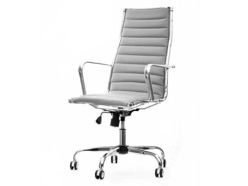 Кресло офисное для работы за компьютером Z EKOSKÓRY DO GABINETU BERLIN SZARY