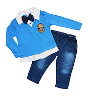 Костюм для хлопчика дитячий нарядний (джинси і реглан)
