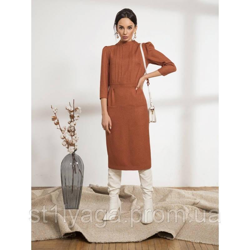 Стильное платье-футляр с рукавом три четверти