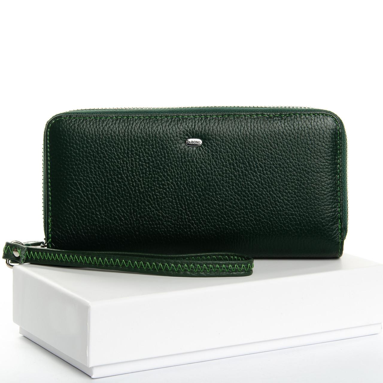 Кошелек Classic кожа DR. BOND W39-3 темно-зеленый