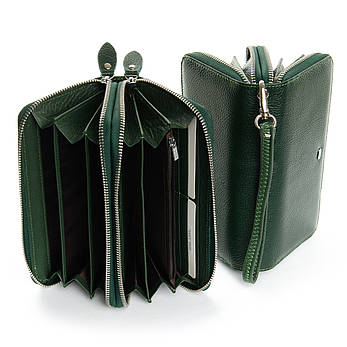 Кошелек Classic кожа DR. BOND W39-3 темно-зеленый, фото 2