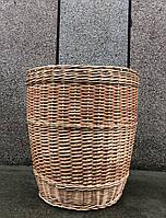 Плетена корзина для білизни із лози, кошик для білизни круглий.