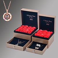 Лучший подарок для Девушки на Кулон 100 языках мира и коробка