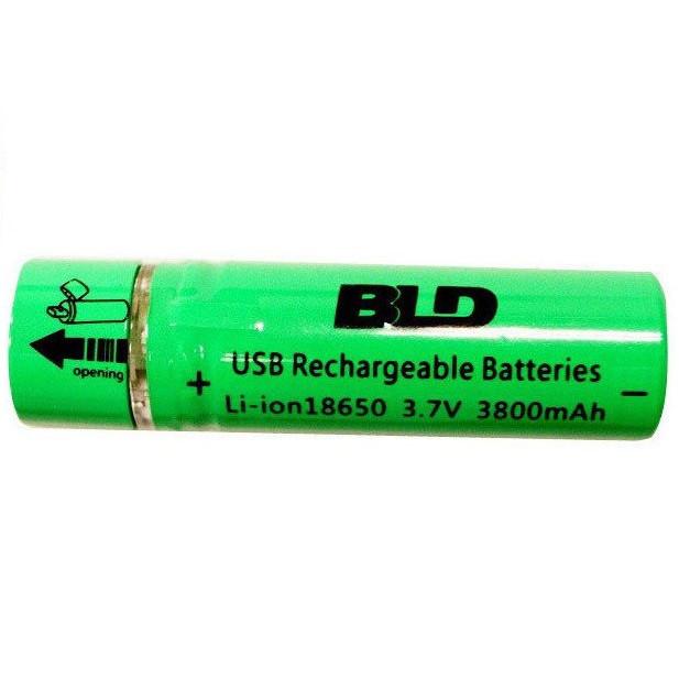 Аккумулятор 18650 Li-ion 3.7v BLD USB18650 3800mah c USB зарядкой