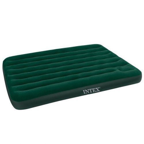 Кровать матрас надувной с насосом велюр Intex 66928