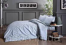 Комплект постельного белья сатин tac 1.5 размер  простынь на резинке FABIAN MINT