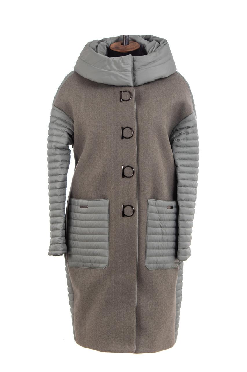 Женское пальто весна  большого размера 52-58 брокард