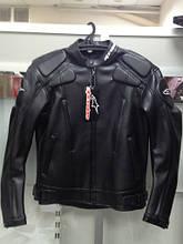 Мотокуртка черная (реплика А-старс). Плотный крепкий кожзам. M
