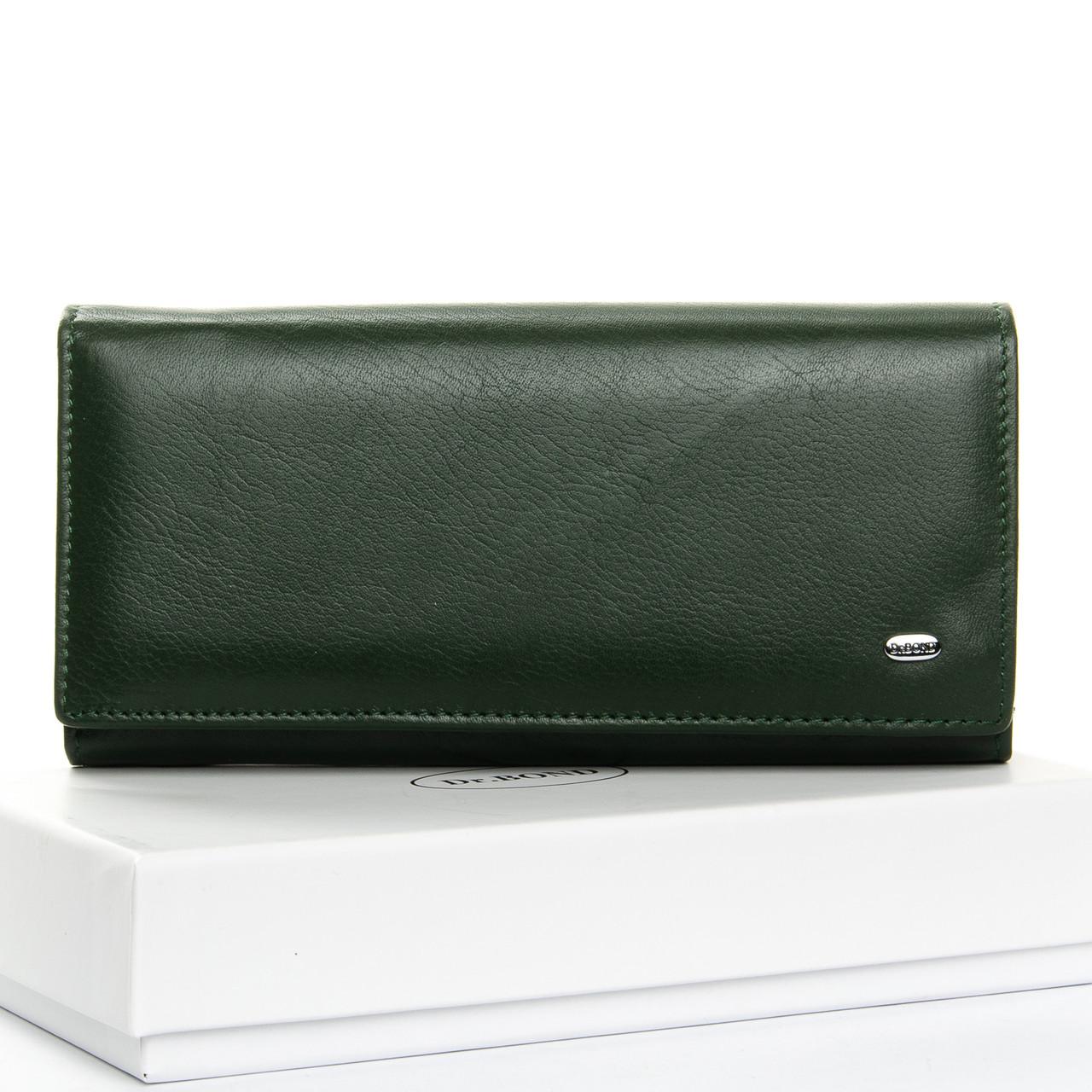 Кошелек Classic кожа DR. BOND W1-V темно-зеленый