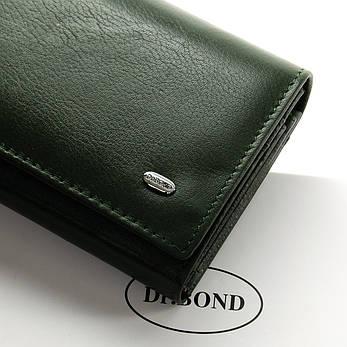 Гаманець Classic шкіра DR. BOND W1-V темно-зелений, фото 2