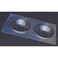 Пластиковая форма для конфет полусфера,  диаметр 7,5 см