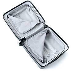 Дорожня Валіза 1 Маленький ABS-пластик 18 горзонт black блискавка, фото 2