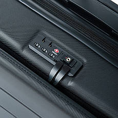 Дорожня Валіза 1 Маленький ABS-пластик 18 горзонт black блискавка, фото 3