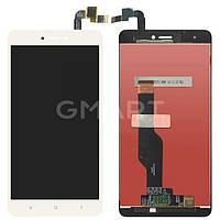 Дисплей Xiaomi Redmi Note 4X белый (LCD экран, тачскрин, стекло в сборе), Дисплей Xiaomi Redmi Note 4X білий (LCD екран, тачскрін, скло в зборі)