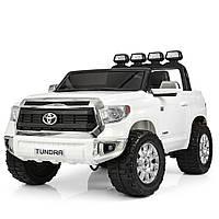 Двухместный детский электромобиль Toyota Tundra JJ 2255 EBLR-1 белый