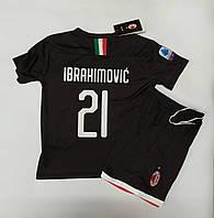Футбольная форма детская Milan резервная Ibrahimovic 21 в стиле Puma