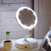Зеркало косметическое FOLD AWAY LED 10x zoom, фото 4