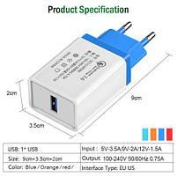 Зарядное устройство сетевое USB QC 3.0 Fast Charge MHZ AR 60, фото 2