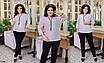 Костюм женский нарядный блуза+брюки креп-дайвинг 50-52,54-56,58-60, фото 2