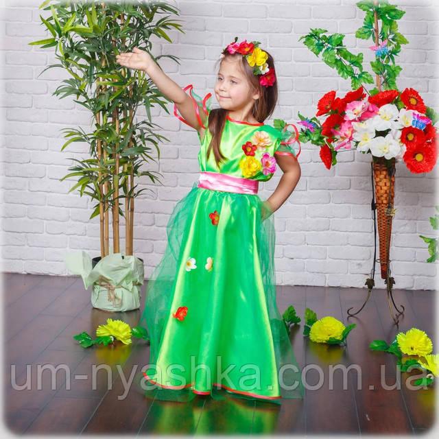 зеленое платье Весна на девочку