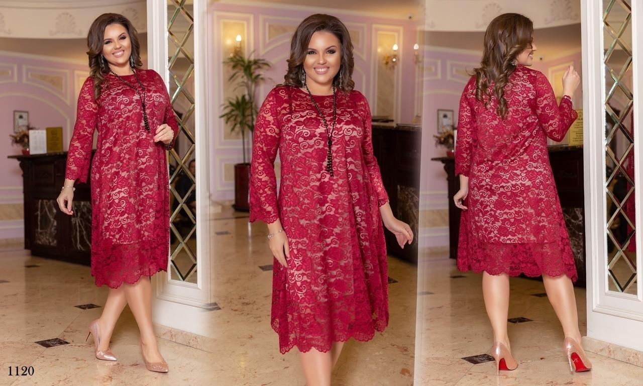 Платье гипюровое свободного кроя 48-50, 52-54